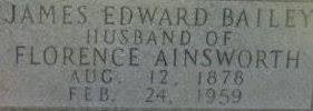 James Edward Bailey (1878 - 1959) - Genealogy