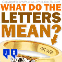 what do the letters mean jewelry secrets