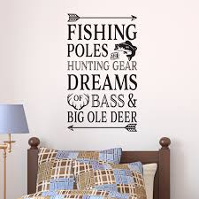 Fishing Poles And Hunting Gear Vinyl Wall Decal Fishing Cabin Lake