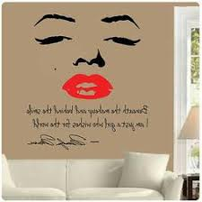 Marilyn Monroe Wall Decal Decor Quote Face Red
