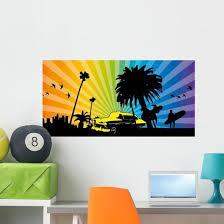 California Taxi Rainbow Wall Decal Wallmonkeys Com