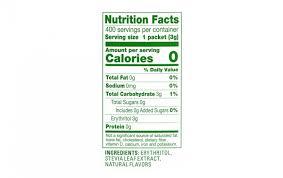 truvia zero calorie sweetener 400 count