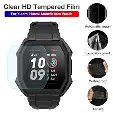 In Stock Protective Film Clear Tempered Film Screen Protector For Xiaomi  Huami Amazfit Ares Watch|Smart Accessories