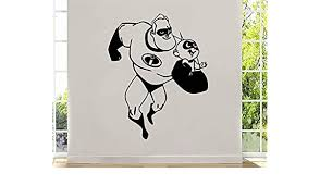 Amazon Com Art Cartoon The Incredibles Wall Decal Mr Incredible Jack Jack Parr Vinyl Sticker Decor For Home Anyroom Design Ti3 22x28 Kitchen Dining