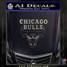 Chicago Bulls Stacked Decal Sticker A1 Decals