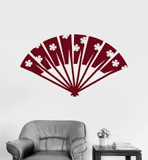 Vinyl Wall Decal Japan Hand Fan Accessory Asian Stickers Mural Unique Wallstickers4you