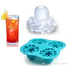 2020 Octopus Silicone Ice Tray DIY Jelly Mold Chocolat Mould Cool ...