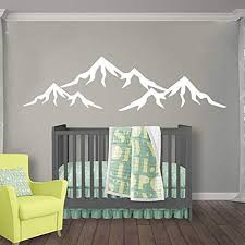 Amazon Com Mountains Nursery Wall Decal Mountain Wall Decal Nursery Baby Nursery Decal Vinyl Sticker Wall Decal Nursery Boy Room Wall Decor Baby Boy Room Wall Decals Vs83 Handmade