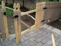 removable wood fence section and gate