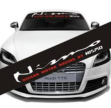 2020 Car Front Back Black Transparent Windshield Banner Decal Auto Glass Vinyl Sticker For Nissan Nismo From All Roads 10 56 Dhgate Com