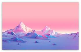 lowpoly mounns landscape ultra hd