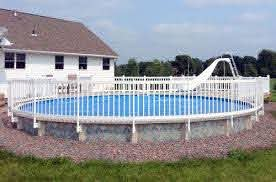 Kit 1a Resin Above Ground Pool Fence Kit 8 Sections In Ground Pools Above Ground Swimming Pools Pool Landscaping