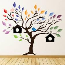 Bird Tree House Rainbow Leaves Wall Decal Sticker Ws 44707 Ebay