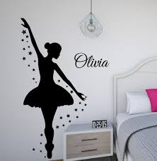 Ballerina Wall Decal Dance Wall Decor Personalized Decal Etsy