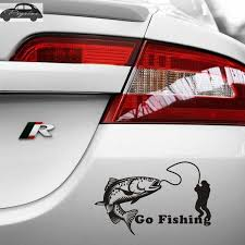 Trout Fish Salmon Car Decal Go Fishing Posters Boat Decals Decor Mural Wall Sticker Angling Hooks Shop Vinyl Wall Stickers Aliexpress