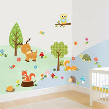 Removable Cute Zoo Animals Wall Sticker Decal For Kids Nursery Baby Room Decor 9780805767469 Ebay