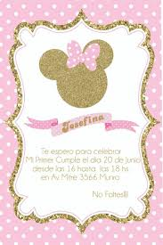 Mi Primer Anito Invitaciones Minnie Invitacion De Minnie Mouse