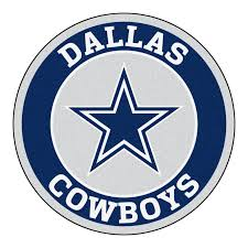 FANMATS NFL Dallas Cowboys Roundel 27 in. x 27 in. Non-Slip Indoor ...