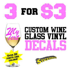 Personalized Custom Name Vinyl Decal Sticker Wine Glass Cup Mug Wedding Gift For Sale Online Ebay
