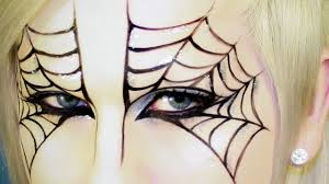 halloween makeup spider web mask
