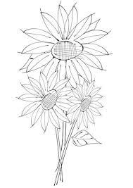 Zonnebloemen Kleurplaat Gratis Kleurplaten Printen