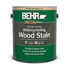 Solid Color Waterproofing Wood Stain Behr Deckplus Behr