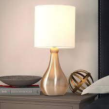 Casainc 14 4 In Chrome Bedside Desk Lamps For Bedroom Living Room Office Kids Room Girls Room Yjs008l The Home Depot