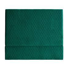 Park Avenue Ivy Green Coco Velvet Bedhead & Reviews | Temple & Webster