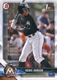 Amazon.com: 2018 Bowman Draft #BD-103 Osiris Johnson NM-MT Miami Marlins  Official MLB Baseball Card: Collectibles & Fine Art