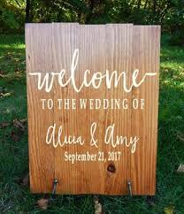 Welcome To The Wedding Of Decal Wedding Decor Wedding Established Rustic Wedding Decor Rustic Wedding Sign Wedding Welcome Sign Custom East Coast Vinyl Decals Llc