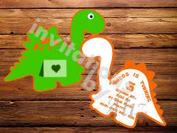 Invitacion De Dinosaurio Invitations By Aliz