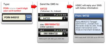 sms service hsbc indonesia