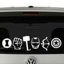 Avengers Icons Vinyl Car Truck Decal Sticker Cool