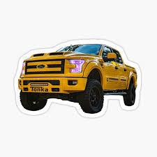 Custom Tonka Ford F 150 Pickup Truck Sticker By Jeremyfoxx Redbubble