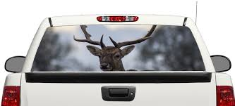 Product Deer Animal Rear Window Decal Sticker Pick Up Truck Suv Car 3