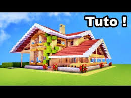 belle maison en bois sur minecraft
