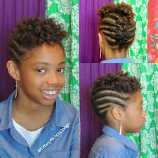 natural hairstyle for kids flat twist