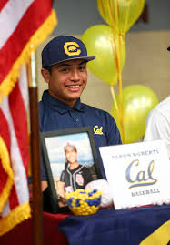 Desert Oasis baseball player Aaron Roberts with teammates after ...