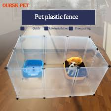 Best Offer C873 Diy Pet Fences Dog Cage Playpen Transparent Fence Cat Puppy Kennel House Animal Bird Rabbit Guinea Pig Playing Sleeping Room Cicig Co