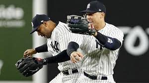 Aaron Judge leaves Aaron Hicks hanging during Yankees' postgame ...