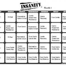 insanity workout calendar pdf