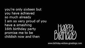 16th sweet birthday poems best friend