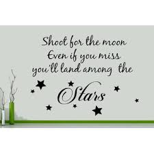 Juststickit Shoot For The Moon Even If You Miss Amoung Stars Wall Art Decal Sticker Picture