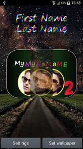 my name 2 live wallpaper for android