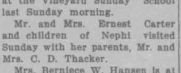 Ida Carter visits her parents in Vineyard - Newspapers.com