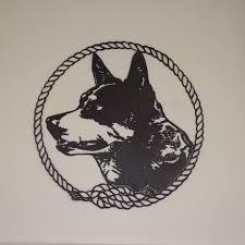 Blue Heeler Silhouette 295 00 Blue Heeler Blue Heeler Dogs Dog Tattoos Dog Silhouette