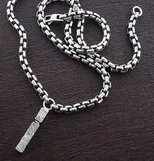 men s silver chain necklace pendant