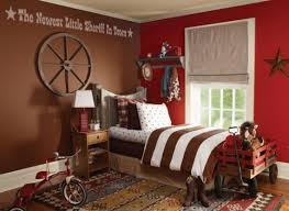 Decorating A Cowboy Western Boys Bedroom Ideas Red Kids Rooms Cowboy Room Kids Bedroom Paint