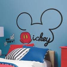Disney Mickey Mouse Peel Stick Giant Wall Decals