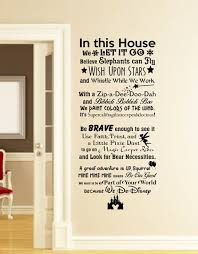 In This House We Do Disney Wall Decal Disney Wall Quotes Wall Vinyl Decal Wall Decor Wall Art Wall Disney Wall Disney Wall Decals Disney Home Decor
